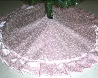 Pink Tree Skirt Etsy