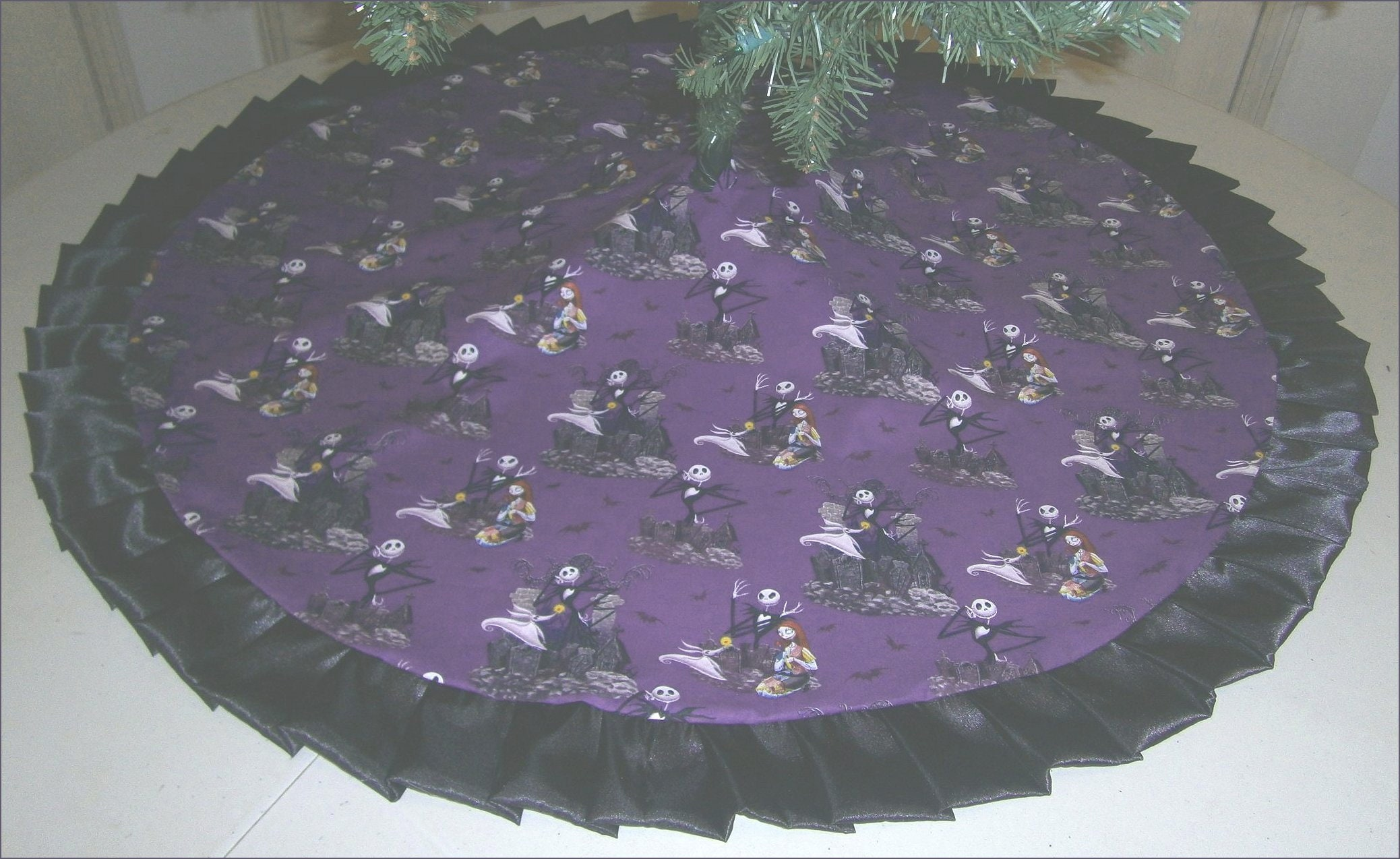 Christmas Tree Skirt 47 Purple Nightmare Before | Etsy