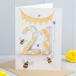 21st Birthday Bumble Bee Greeting Card