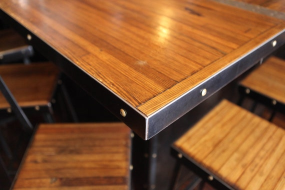 Restaurant Table Reclaimed Wood Table Cafe Table Bowling | Etsy