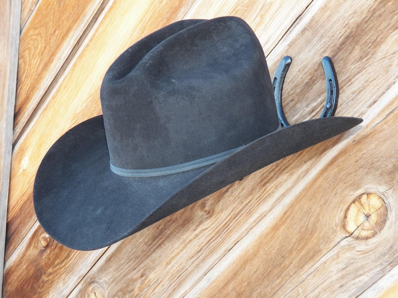 Cowboy Horseshoe Hat Rack black  7ff7f96db2d6