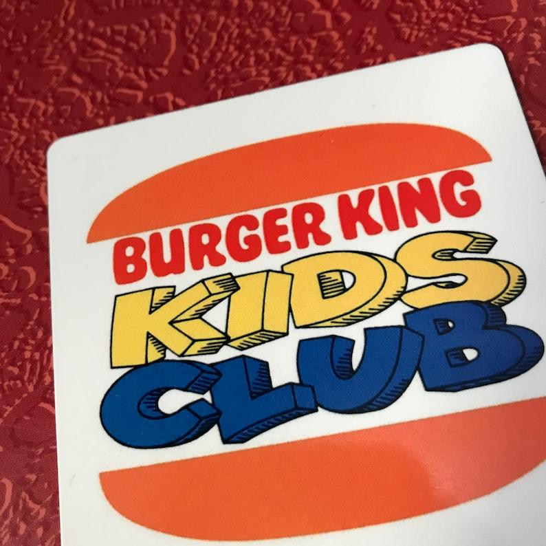 New Magnet BURGER KING Kids Club LOGO vintage 80s 90s Aluminum Lightweight  3