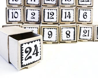 Advent calendar, DIY calendar, Christmas calendar, Calendar for Christmas, little Christmas gift boxes