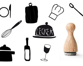 Cooking rubber stamp, Kitchen Rubber Stamp, Tiny rubber stamp for cooks, Chef's rubber stamp, Bottle of wine rubber stamp, wineglass