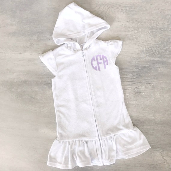 8269825d696fc Terry swim cover up. Kids cover up. Toddler swim wrap. Terry   Etsy
