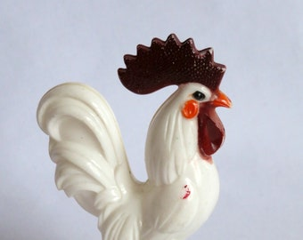 Vintage rooster in top hat rattle