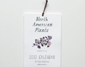 2022 North American Plants Calendar- 6 x 9