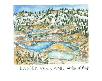 Lassen Volcanic National Park Print