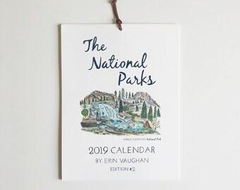 2019- Edition #2 National Park Calendar