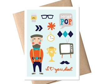 Father's Day Card - Dad Card, Father Card, Birthday Card, Dad Birthday, Father's Day, Greeting Card