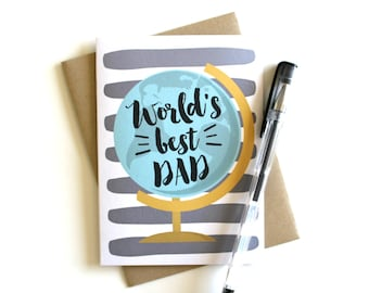Father's Day Card - Dad Card, Father Birthday Card, Dad Birthday Card, Dad Birthday, Father's Day Gift, Greeting Card for Dad, Best Dad Card
