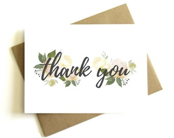 wedding thank you card floral thank you card bridal shower thank you card wedding thank you thank you cards thank you notes engagement