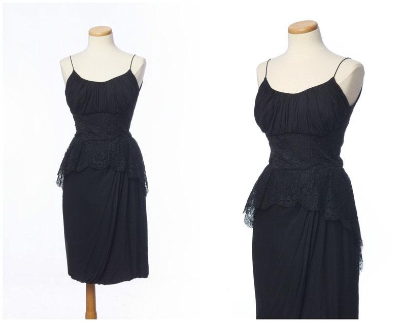 6e71e94b7c048d Jahrgang 1950 Sayno California Kleid     atemberaubende Spitze