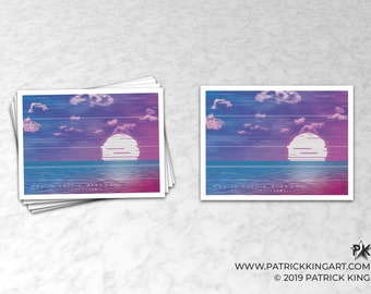 Vaporwave Was It Only A Dream Sticker - synthwave, outrun, 80s, retro, glitch, neon, sunset, california, sticker, decal