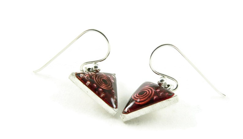 Orgone Energy Dangle Earrings  Small Triangle Drops in image 0