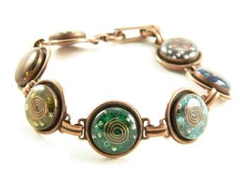 Orgone Energy Bracelet - Chakra Rainbow Bracelet in Copper Finish - Chakra Gemstones - Balance and Healing - Artisan Jewelry