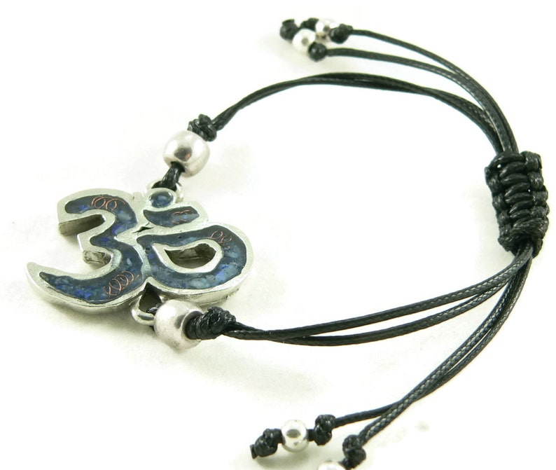 Orgone Energy Shamballa Style Bracelet  Om Symbol Friendship image 0