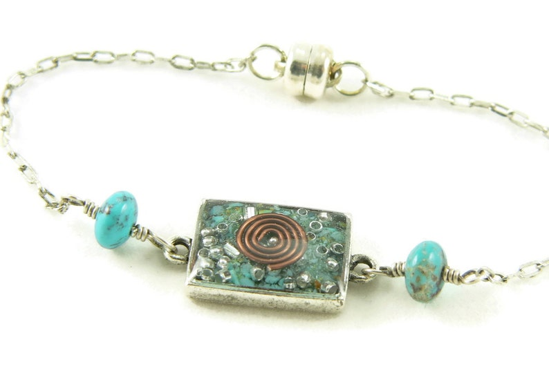 Orgone Energy Petite Stacking Bracelet in Antique Silver image 0