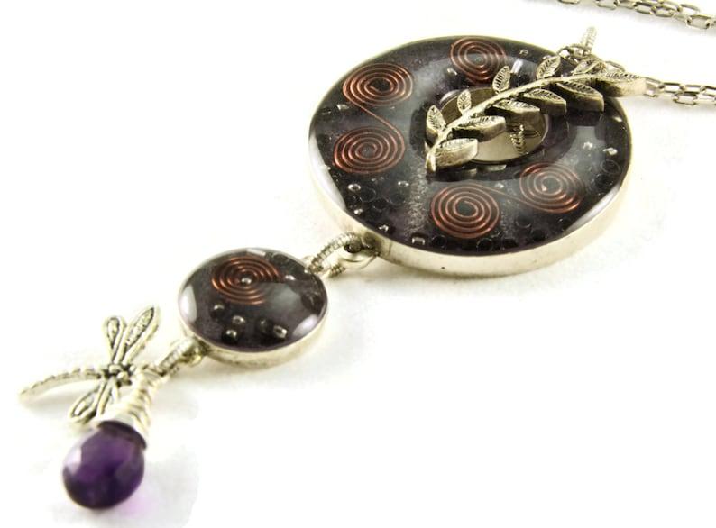 Orgone Energy Toggle Charm Necklace  Purple w/Amethyst  image 0