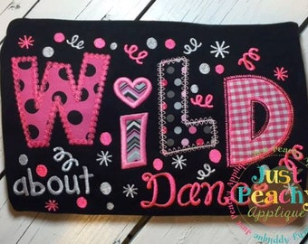 Wild About Dance Machine Embroidery Applique Design