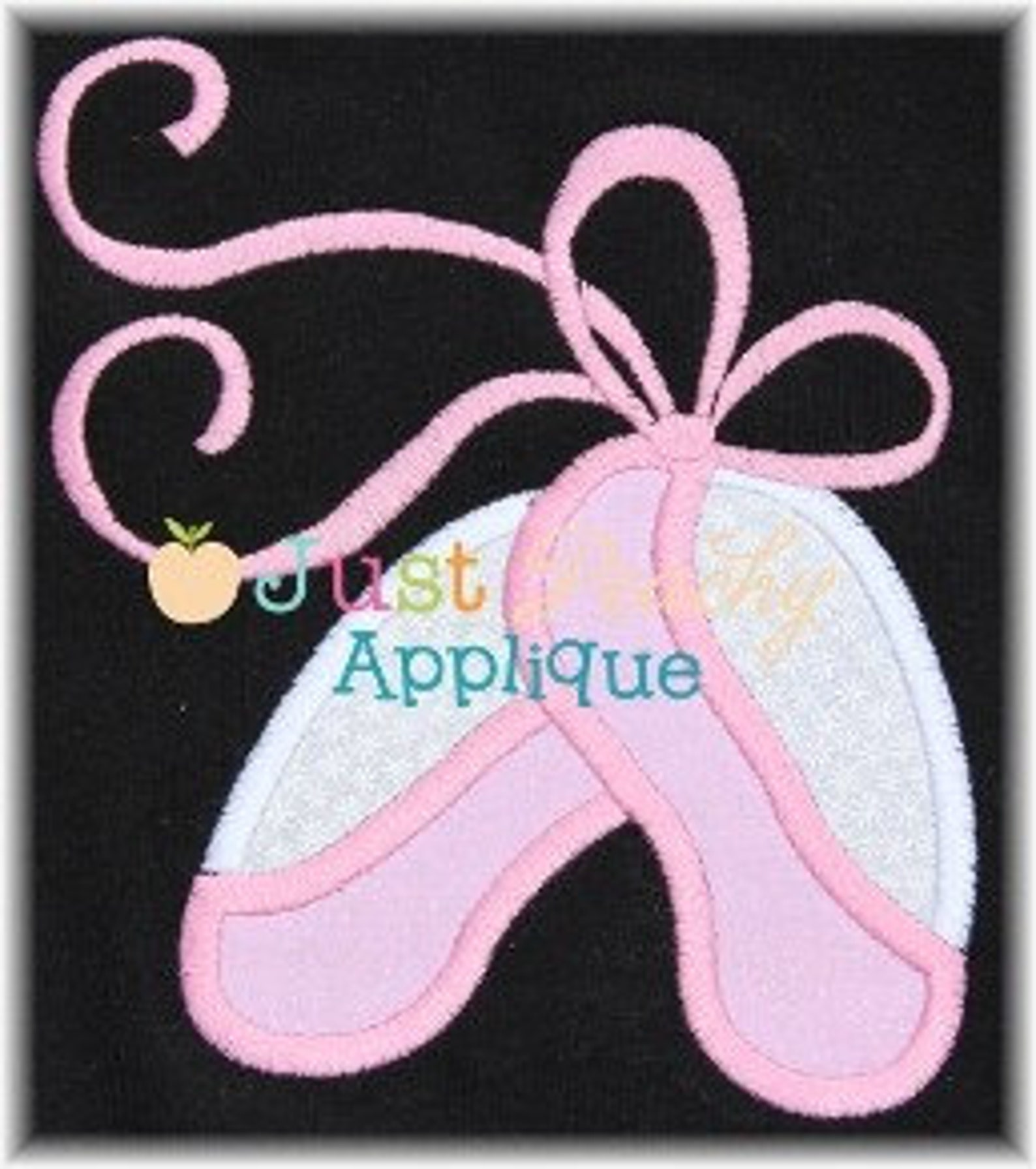 ballet shoes machine embroidery applique design