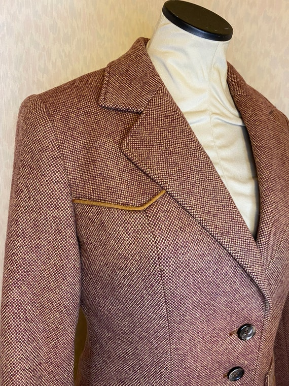 Mauve Western style All era Vintage suit by Adler