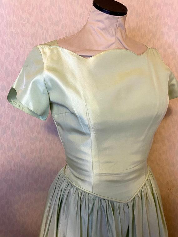 Sweetest 1950s Pastel Green Dress