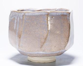 Pale Lavender Porcelain Matcha Chawan, Ceramic Tea Bowl