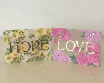 Hope Collection: stationary, greeting cards, paper craft, floral, hope, love.
