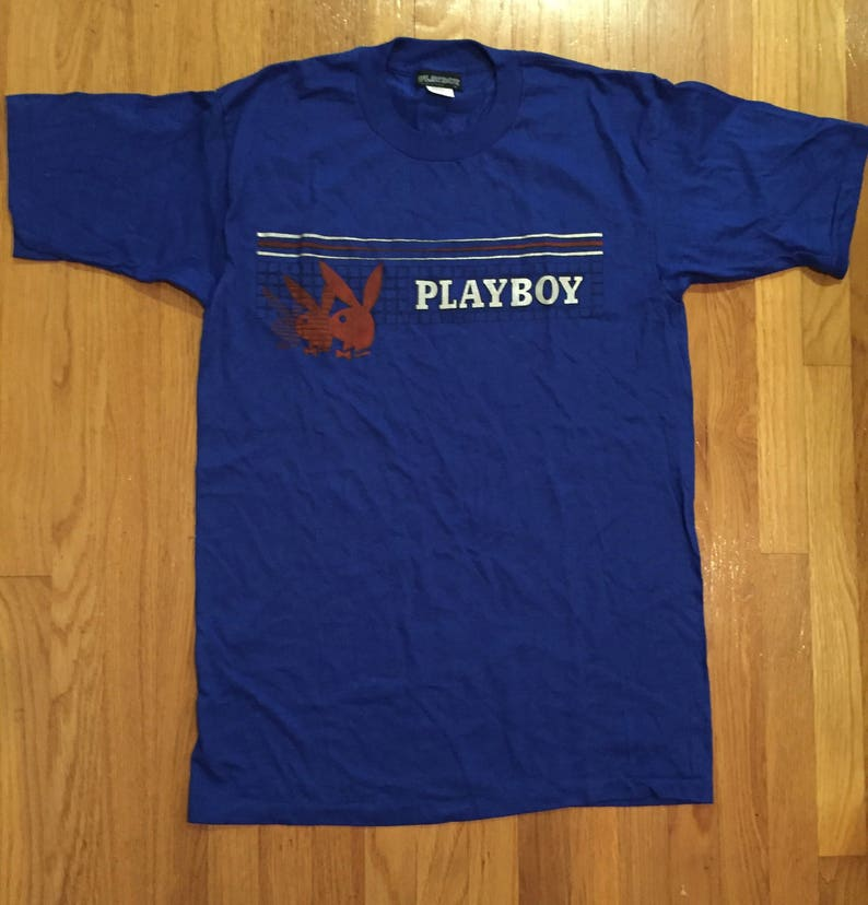 f6710dfc312b Vintage 80s Playboy Bunny royal blue silver logo made in the   Etsy