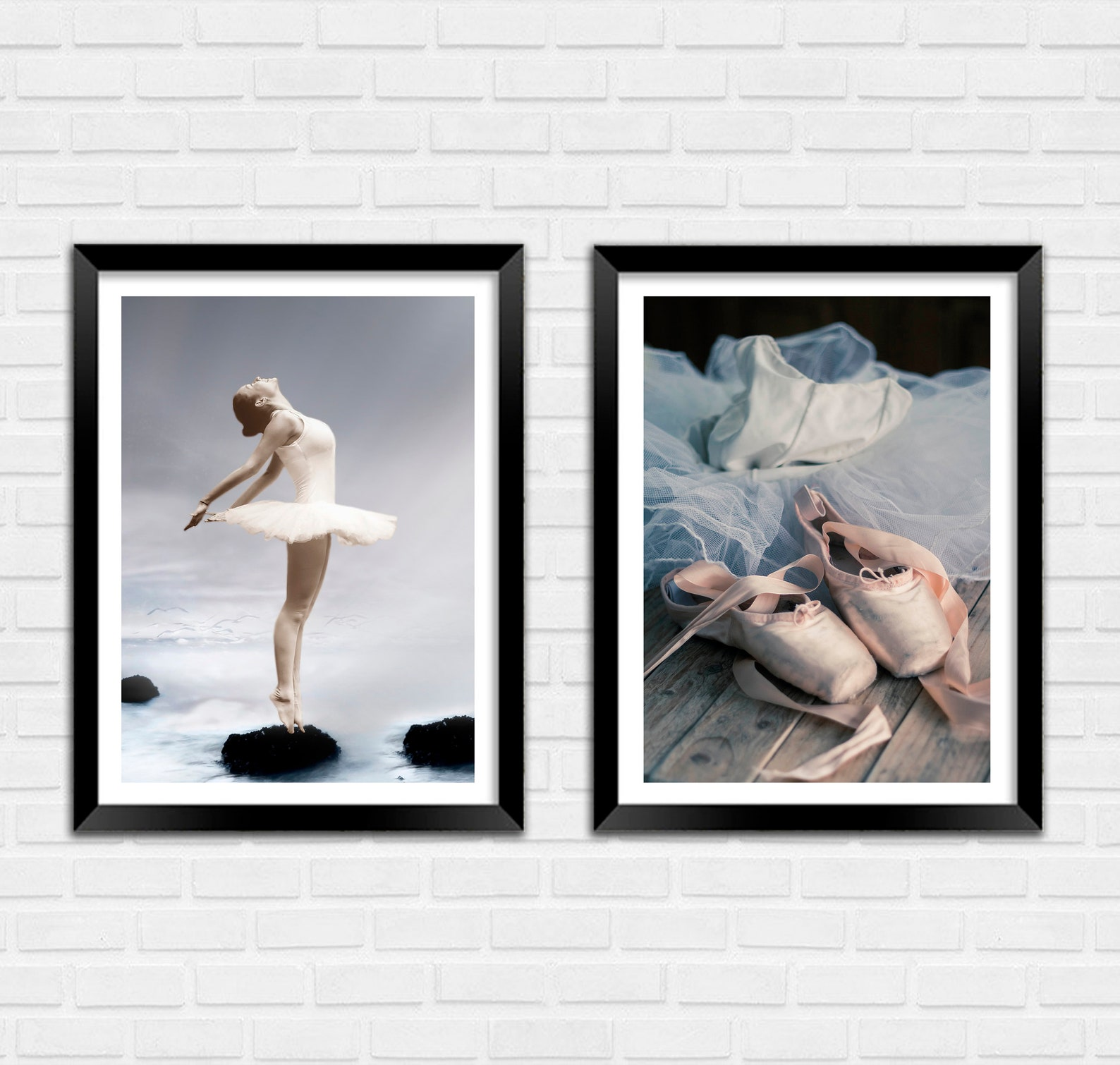 ballet photo prints: ballerina and slippers art posters