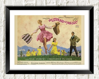 SOUND Of MUSIC POSTER: Classic Julie Andrews Musical Film Art Reprint Wall Hanging