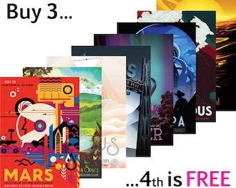 NASA POSTERS: 'Visions of the Future' JPL Space Series, Full Range in Stock