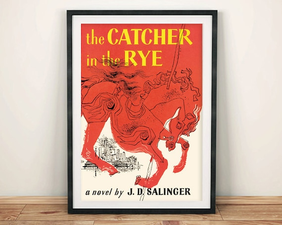 Catcher In The Rye Print Vintage Book Cover Poster Art Wall Etsy