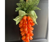 Easter Carrot Door Hanger Tulip Swag