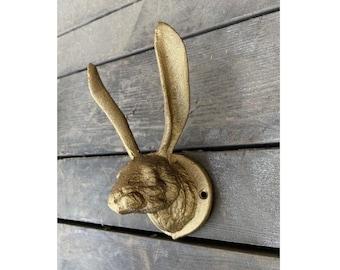 Vintage Bunny Rabbit Ears Hare Coat Hook Hooks Wall Mounted Door Hook Hanger for