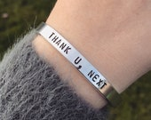 Ariana Grande Thank U Next Bracelet Arianator Fan 7 Rings Sweetener God Is A Woman Pop Handmade Silver Gold Copper Cuff Bracelet Gift
