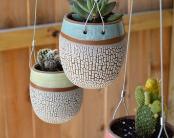 Hanging Crackle Egg Planter