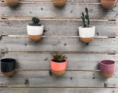 10 stoneware wall planters Save on shipping