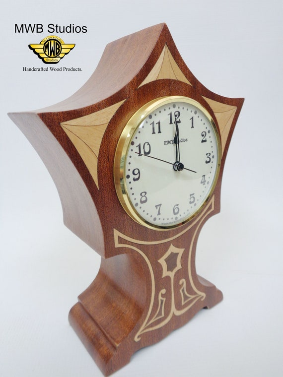Clock, Art Nouveau Flair. MC-23 Free Shipping within the U.S.