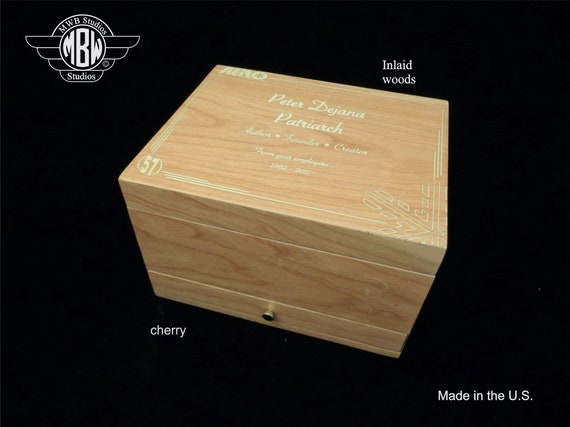Handcrafted Humidor Made in the U.S.- Free Shipping in the U.S. and Engraving
