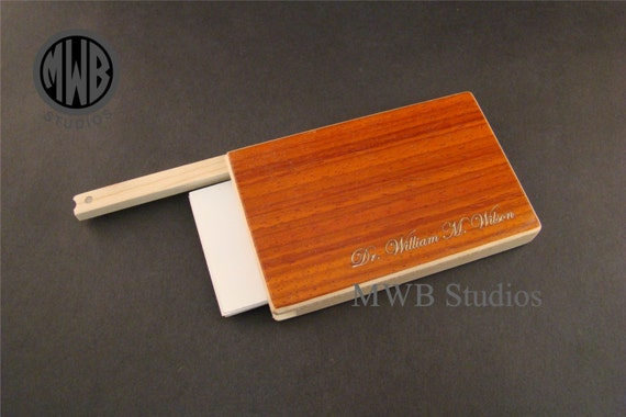 Inlaid Business Card Holder BCH3.  Free shipping and inlay
