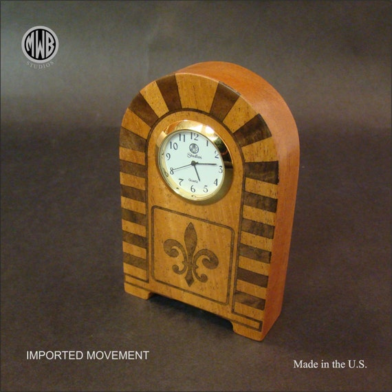 "Clock Inlaid ""Miniature"". MDC-34. Free Shipping within the U.S."