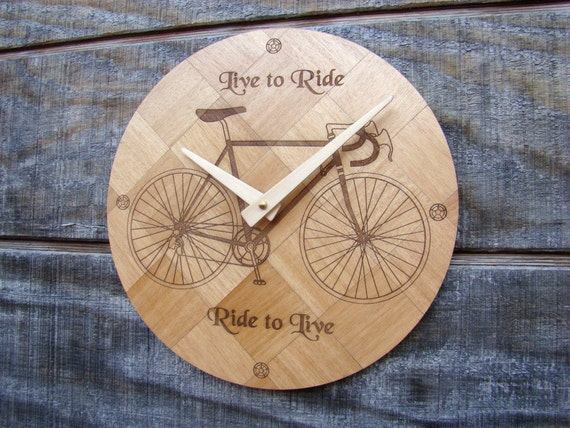 "Wall Clock ""Live to Ride"" WC-8 Free Shipping within the U.S."