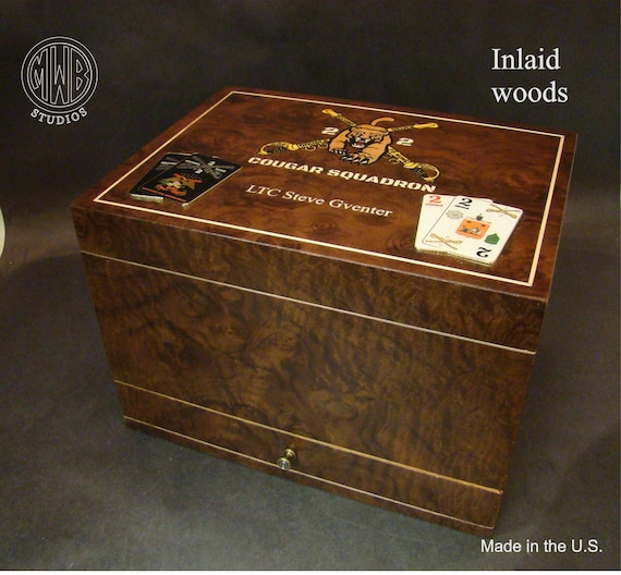Humidor Handcrafted in the U.S. - HD75-1 Free Engraving, Free Shipping  within the U.S.