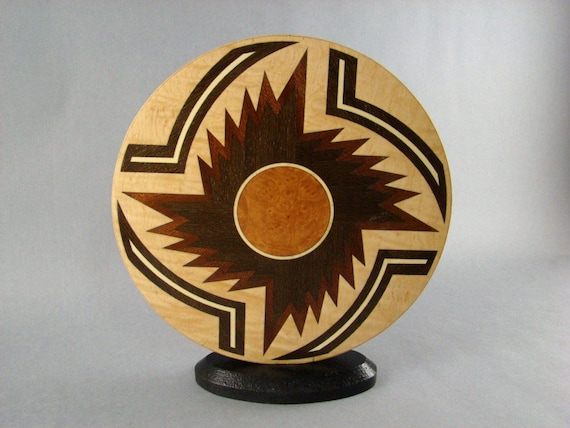Solar Storm accent of inlaid woods