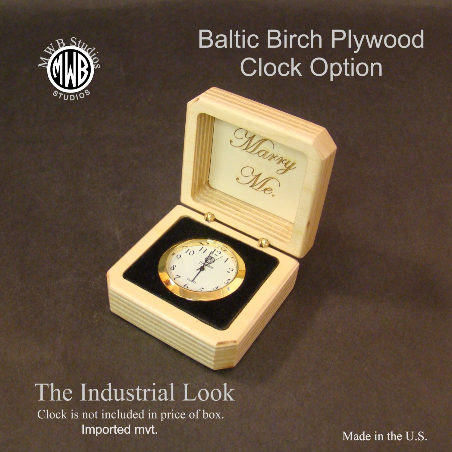 Ring Box with a Industrial Look  Baltic Birch Plywood  Free