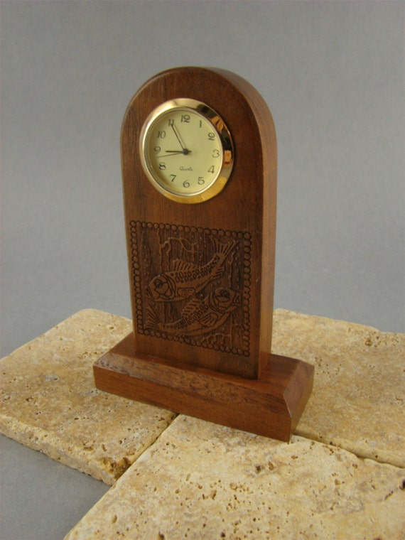 Clock, Zodiac Made of Walnut. MDC-8 Free Engraving, Free Shipping within the U.S.