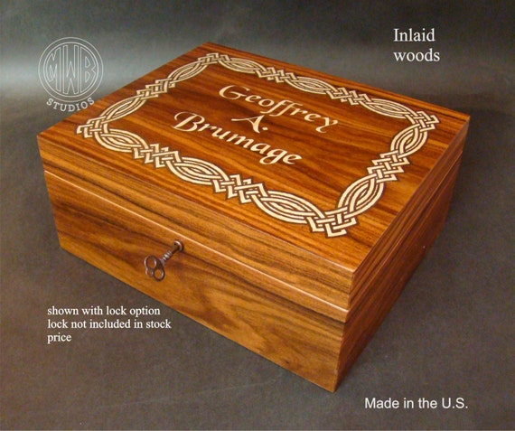 Humidor Handcrafted in the U.S.  HD-50 Free Engraving, Free Shipping within the U.S.