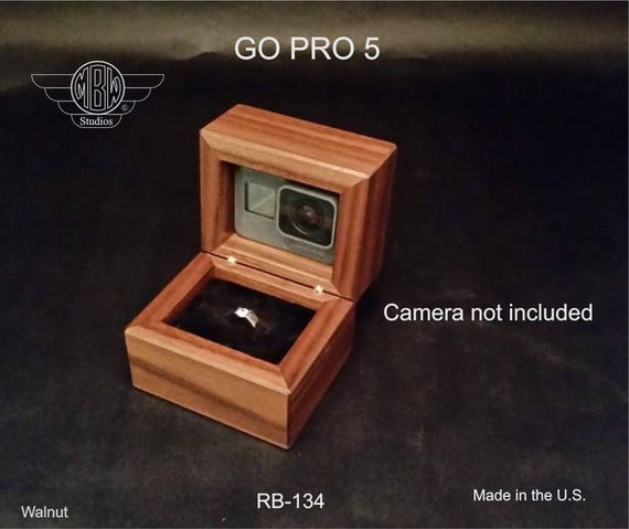 Ring Box GOPRO . Free Shipping and Engraving. RB-134